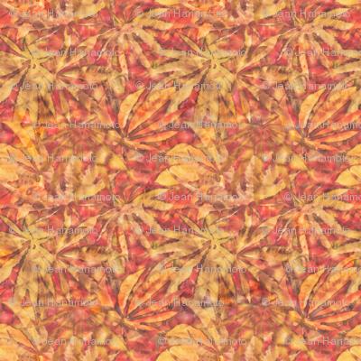 """Gold/Orange """"Batik"""" Marijuana Leaf (2)"""