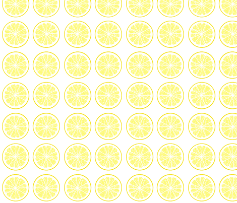 lemon parade fabric by domoshar on Spoonflower - custom fabric