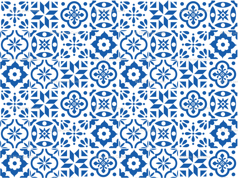Spanish Tile Pattern Smaller Size Fabric Elizajanecurtis Stunning Spanish Patterns