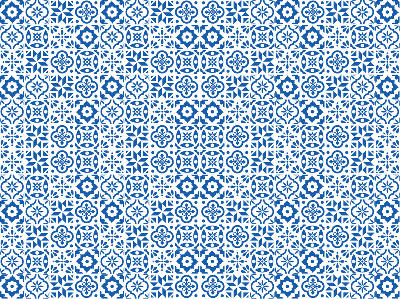 Spanish Tile Pattern Smaller Size Fabric Elizajanecurtis New Spanish Patterns