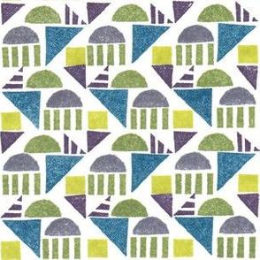 Geometric Stamp Pattern
