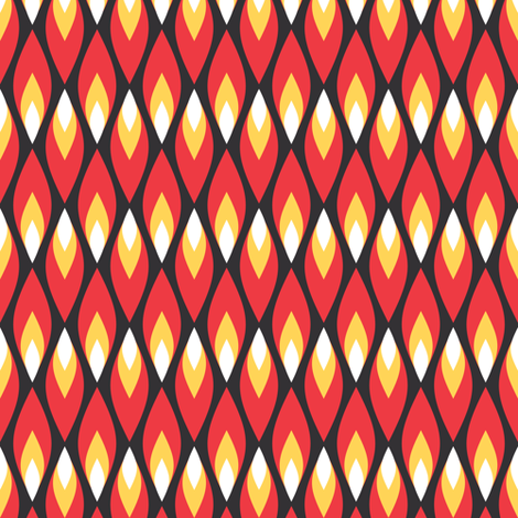 Small red flames fabric by petitspixels on Spoonflower - custom fabric
