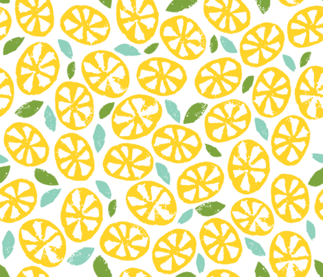spoonflower_citrus fabric by jenngoodrich on Spoonflower - custom fabric