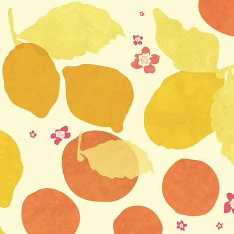 Pink Lemonade fabric by chrissievh on Spoonflower - custom fabric