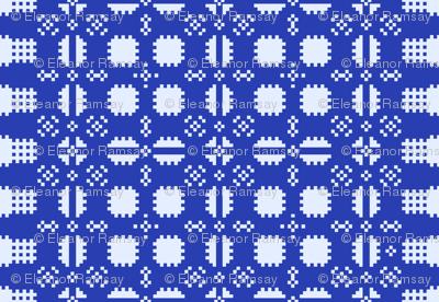Welsh Picnic Blanket - Blue