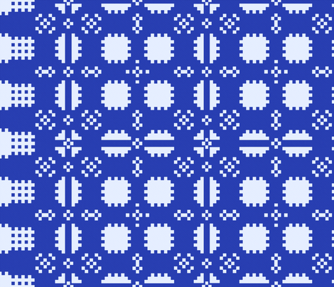 Welsh Picnic Blanket - Blue fabric by elramsay on Spoonflower - custom fabric