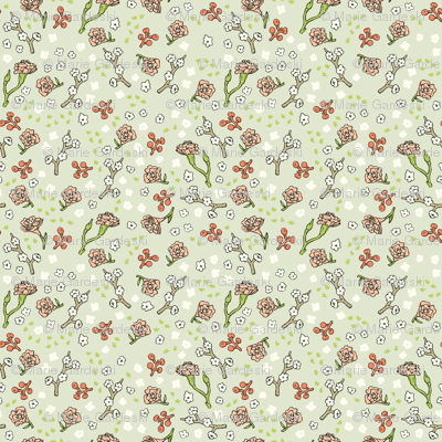 Scattered Flowers | Green