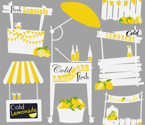 Julie's Lemonade Stand fabric by juliesfabrics on Spoonflower - custom fabric