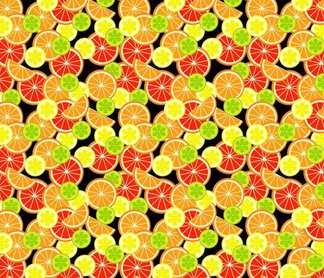Sweet 'n' Sour  fabric by nezumiworld on Spoonflower - custom fabric