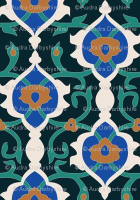 Dark Arabesque Mosaic