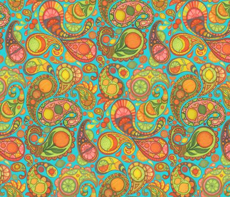 Paisley Salad daylight fabric by ceanirminger on Spoonflower - custom fabric