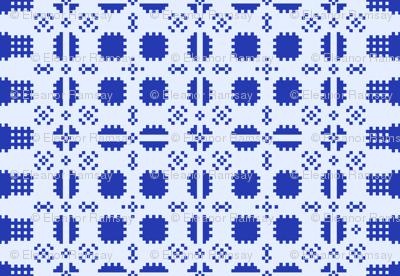 Welsh Picnic Blanket Blue - Light