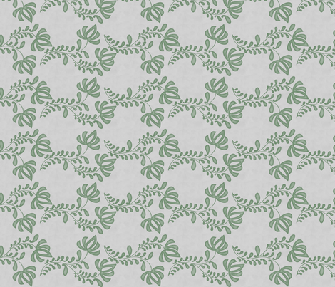 salt tulip green fabric by glimmericks on Spoonflower - custom fabric
