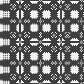 Welsh Picnic Blanket - Black and White - Dark