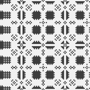 Welsh Picnic Blanket - Black and White - Light
