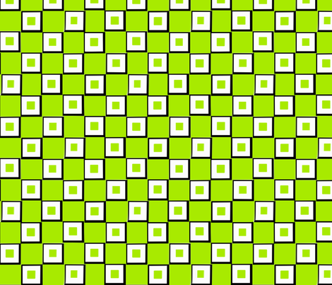 My Lime Green Squares fabric by missourah_gal on Spoonflower - custom fabric