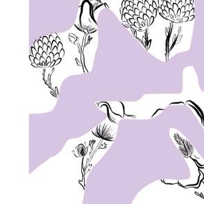 Magnolias + poppies