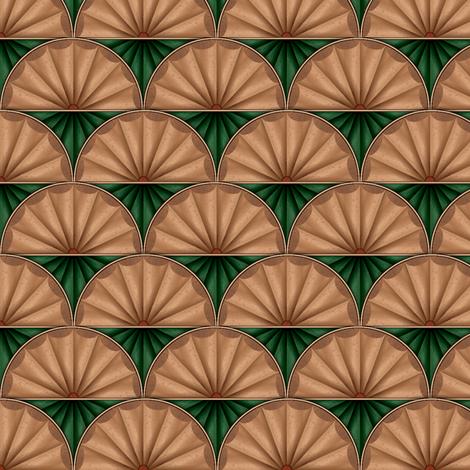 inlaid fan green fabric by glimmericks on Spoonflower - custom fabric