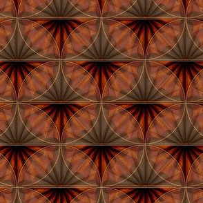 inlaid fan wood overlays