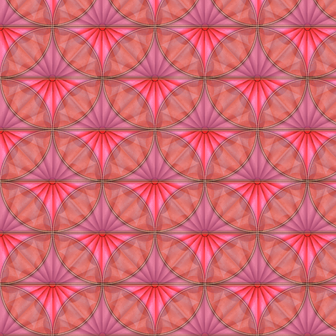inlaid fan pink overlays fabric by glimmericks on Spoonflower - custom fabric
