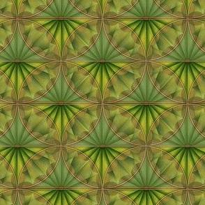 inlaid fan green overlays
