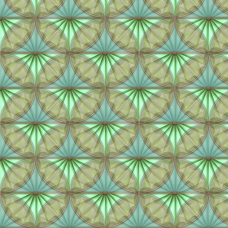 inlaid fan ocean overlays fabric by glimmericks on Spoonflower - custom fabric