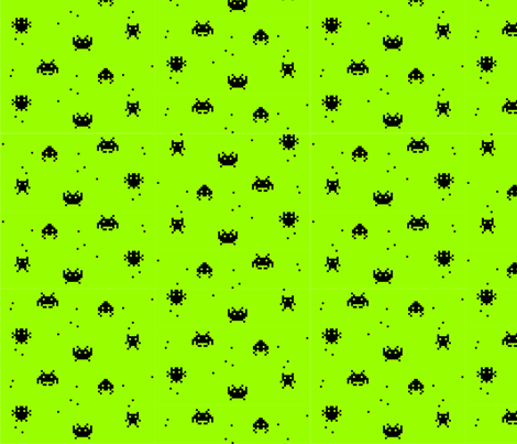 Space Invaders #2 fabric by loffloff on Spoonflower - custom fabric