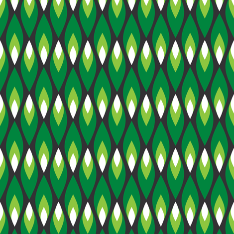Small green flames fabric by petitspixels on Spoonflower - custom fabric
