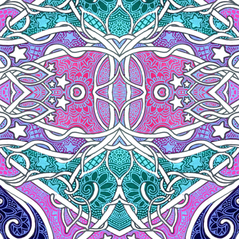 Cosmic Hippie Bait fabric by edsel2084 on Spoonflower - custom fabric