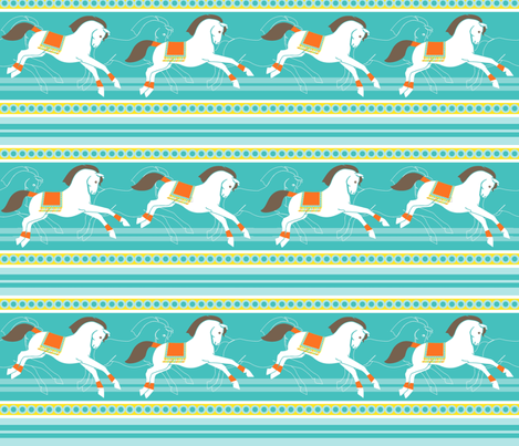 Horses for courses! fabric by moirarae on Spoonflower - custom fabric