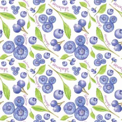 blueberries  fabric by jackiejean on Spoonflower - custom fabric