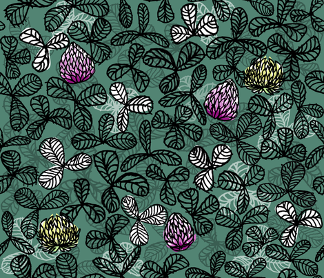 Picnics and clovers fabric by zapi on Spoonflower - custom fabric
