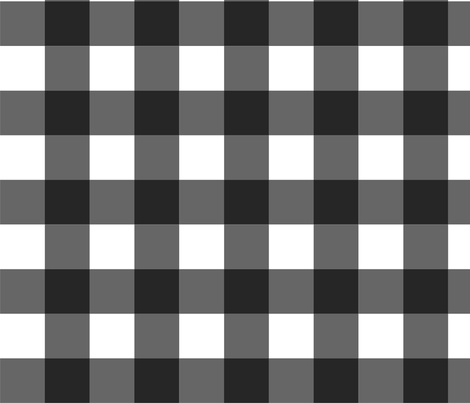 Black_Buffalo_Check fabric by kelly_a on Spoonflower - custom fabric