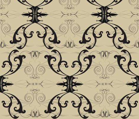 Damask Princess fabric by garwooddesigns on Spoonflower - custom fabric