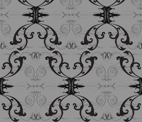 Damask Princess Grey fabric by garwooddesigns on Spoonflower - custom fabric