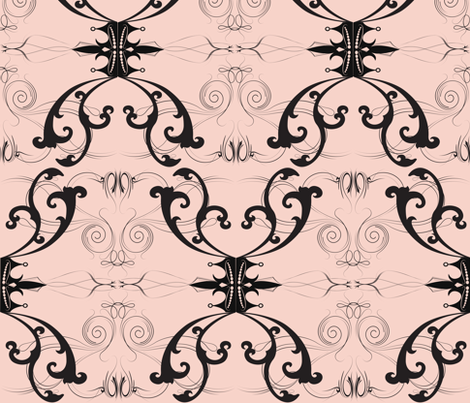 Damask Princess Pink fabric by garwooddesigns on Spoonflower - custom fabric