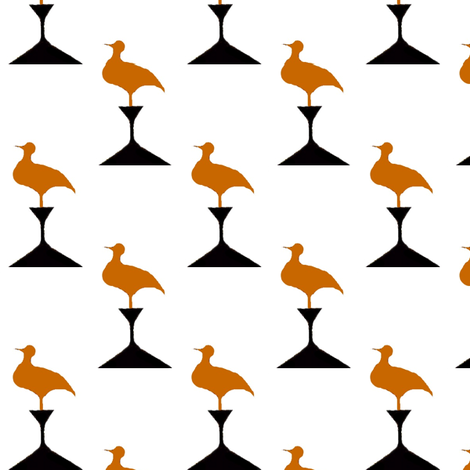 Birds on Pedestals fabric by boris_thumbkin on Spoonflower - custom fabric