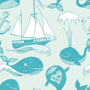 Whales and sailboats