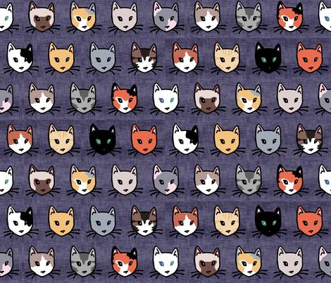 Cats Diversity fabric by pond_ripple on Spoonflower - custom fabric