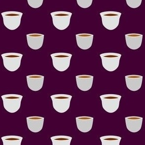 Tea Cup - Dark Purple (Small)