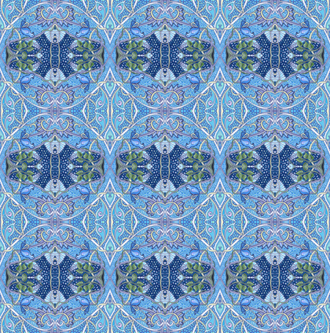Blue Bird of Happiness fabric by edsel2084 on Spoonflower - custom fabric