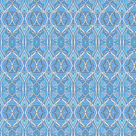Coordinating Pattern For Blue Bird of Happiness fabric by edsel2084 on Spoonflower - custom fabric