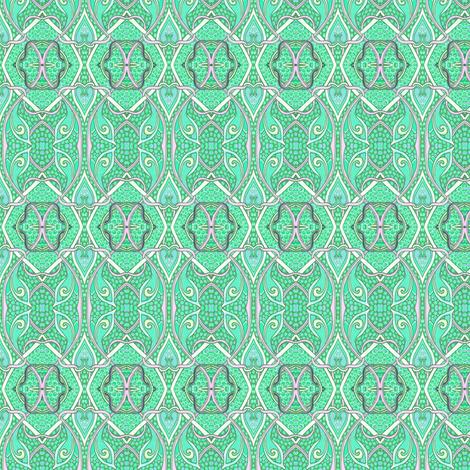 Bird Series, Green Co-ordinate fabric by edsel2084 on Spoonflower - custom fabric
