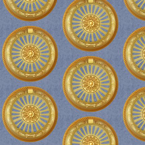 WREATH ornament - blue fabric by glimmericks on Spoonflower - custom fabric