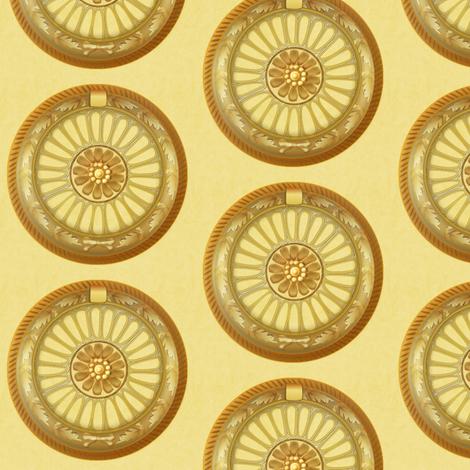 WREATH ornament - gold fabric by glimmericks on Spoonflower - custom fabric