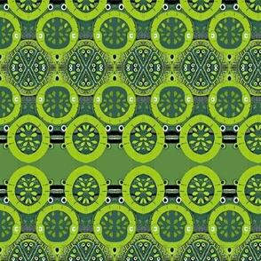 lime green motif