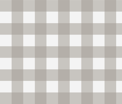 Buffalo Check in Cashmere Grey fabric by willowlanetextiles on Spoonflower - custom fabric