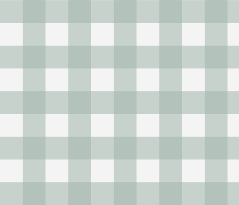 Buffalo Check in Spa fabric by willowlanetextiles on Spoonflower - custom fabric
