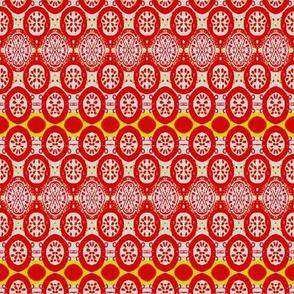 orange red motif