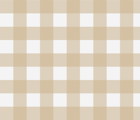 Buffalo Check in Bisque fabric by willowlanetextiles on Spoonflower - custom fabric